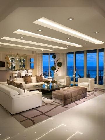 modelos de salas grandes elegantes
