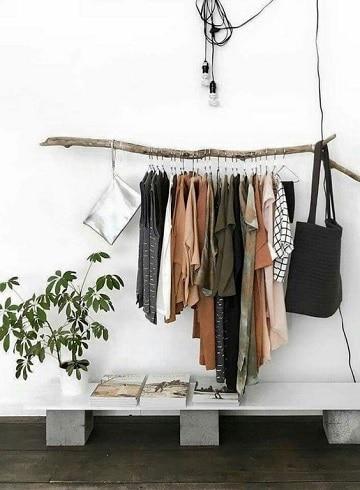 muebles para colgar ropa vintage