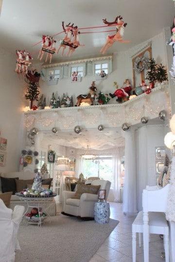 salas decoradas de navidad 2017