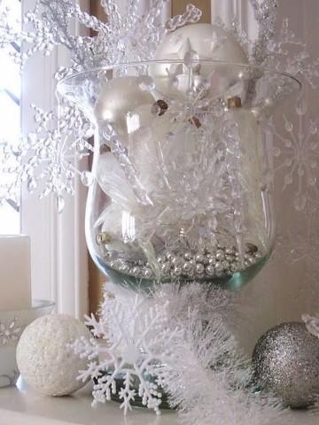 adornos navideños de cristal con decoracion