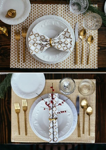 alternativas para mesas decoradas para año nuevo