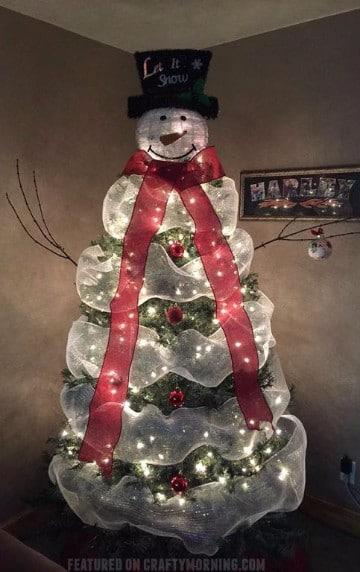 arbolitos navideños decorados con mallas