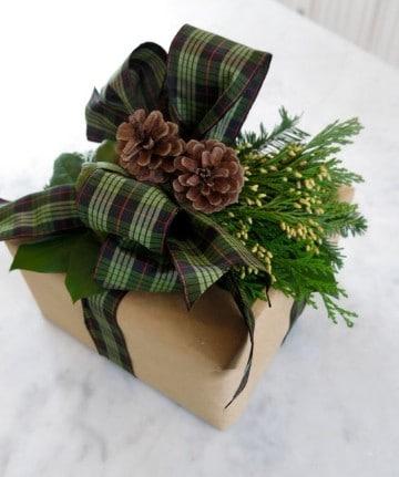cajas de regalo para navidad con lazo