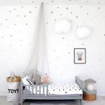 camas para niños de dos años en gris
