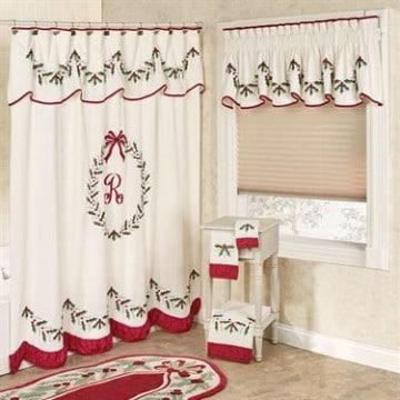 cortinas de baño navideñas sencillas