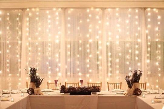 cortinas de luces para bodas religiosas