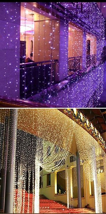 Decorados originales con cortinas de luces para bodas for Cortinas con luces