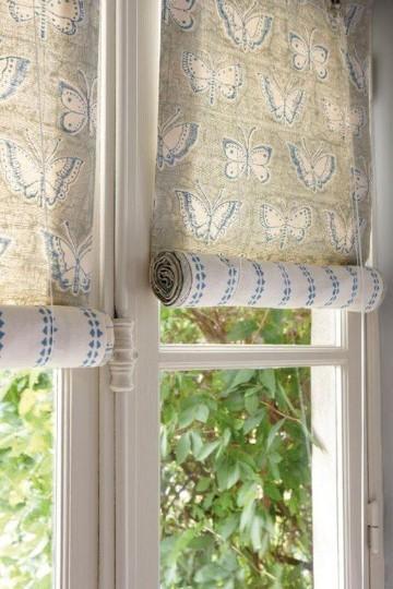 cortinas modernas para recamara de mariposas
