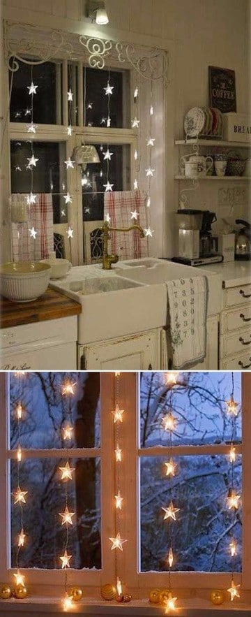 cortinas navideñas para cocina 2017