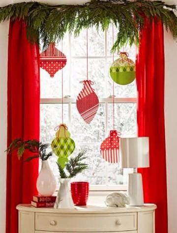 Telas y dise os de cortinas navide as para sala - Disenos de cortinas de tela ...