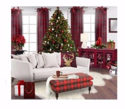 cortinas navideñas para sala sin ormamento