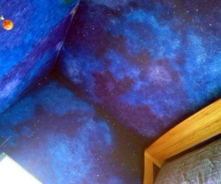cuartos pintados de galaxia paso a paso