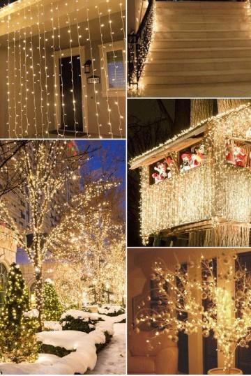 Dise os de cortinas de luces navide as para decorar como for Cortinas con luces