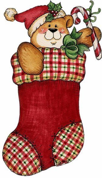 dibujos de botas navideñas adorables