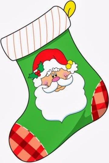 dibujos de botas navideñas con santa