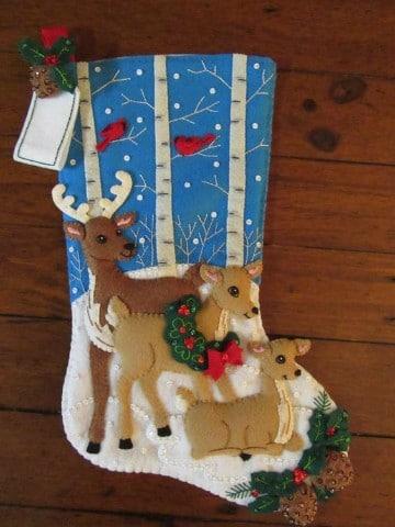 diseños de botas navideñas con venados