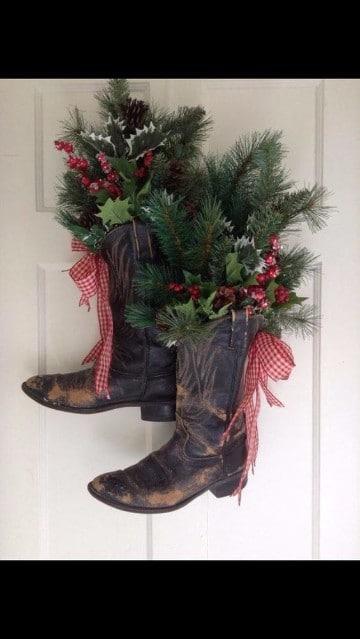 diseños de botas navideñas creativas