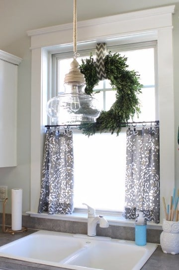 diseños de cortinas navideñas para cocina