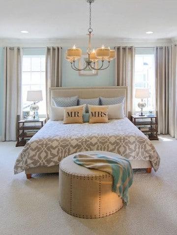 fotos de dormitorios de matrimonio con azul