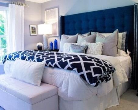 fotos de dormitorios de matrimonio con color