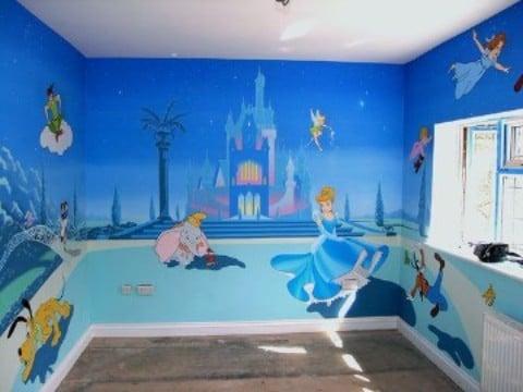 habitaciones de princesas disney con personajes