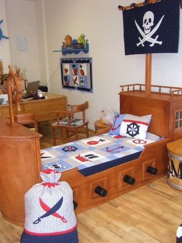habitaciones decoradas para niños de piratas