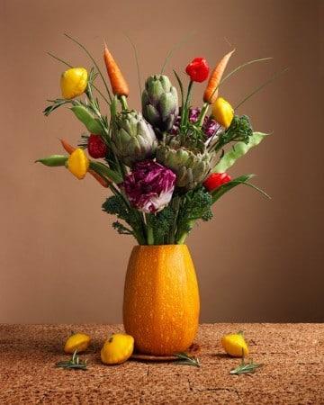 imagenes de floreros con flores naturales