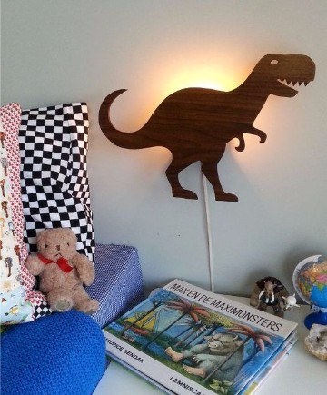 lamparas para cuartos de niños de dinosaurios