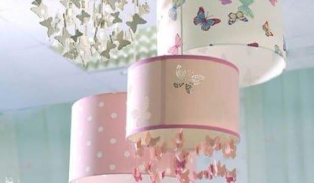 lamparas para habitacion de niña con decoracion