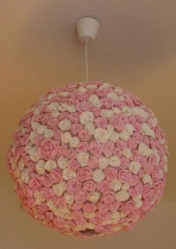 lamparas para habitacion de niña rosa con blanco