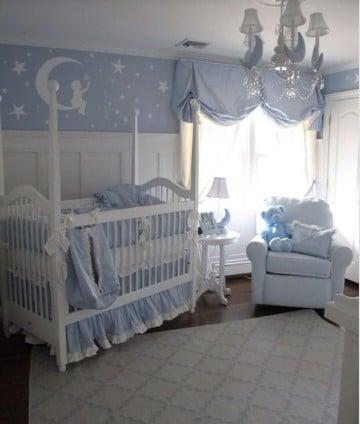 paredes decoradas para bebes en azul