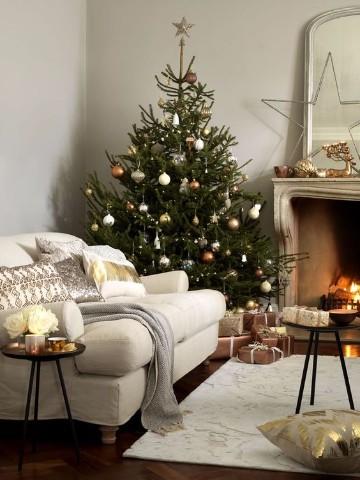 rusticos arbolitos navideños decorados