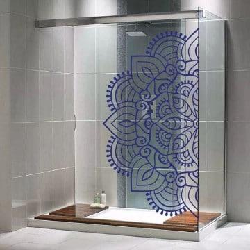 vinilos decorativos para baños con mandalas