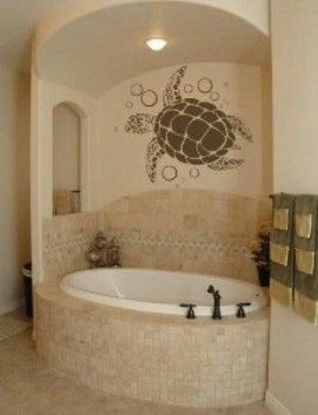 vinilos decorativos para baños con tortugas