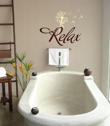 vinilos decorativos para baños minimalista