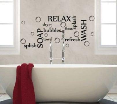 vinilos decorativos para baños relajantes