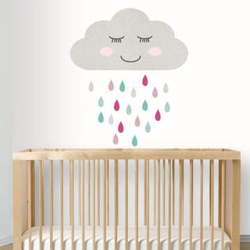 vinilos decorativos para bebes de nubes