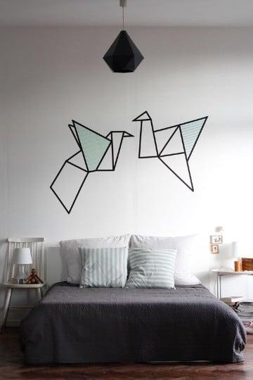 vinilos decorativos para cuartos de origami