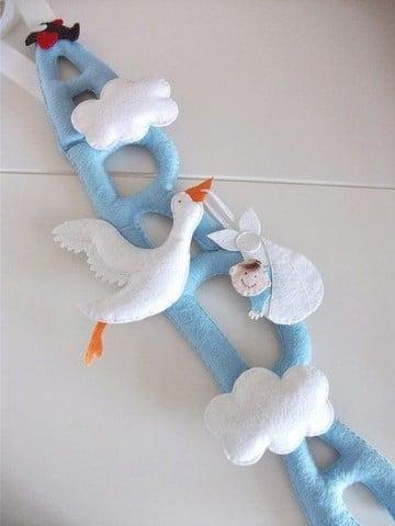 adornos para cuarto de bebe en azul