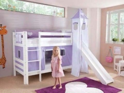camas con tobogan para niños con castillo