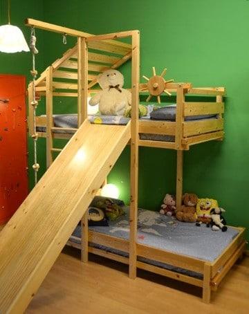 Dise os divertidos de camas con tobogan para ni os como - Camas infantiles con tobogan ...