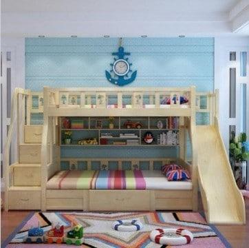 dise os divertidos de camas con tobogan para ni os como. Black Bedroom Furniture Sets. Home Design Ideas