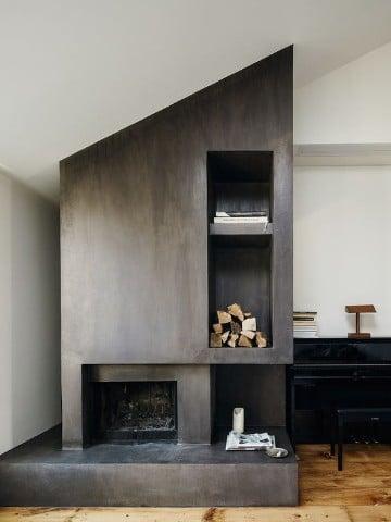 chimeneas de esquina modernas geometrico