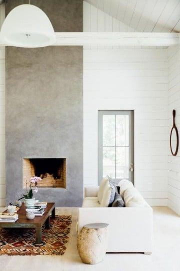 chimeneas de esquina modernas sencilla