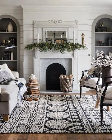 colores de alfombras para salas chic