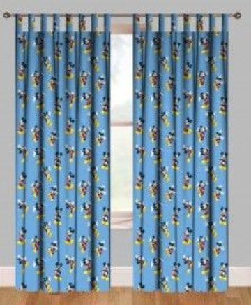cortinas de mickey mouse para habitaciones