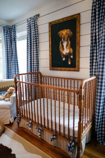 cortinas para bebes varones de cuadros