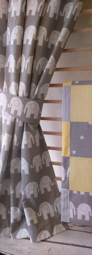 cortinas para bebes varones de elefantes