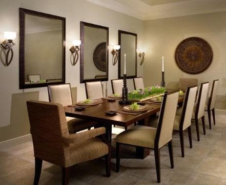 cuadrados espejos decorativos para comedor