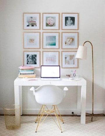 cuarto de estudio en casa moderno